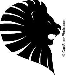 tatuaggio, leone, testa