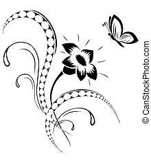tatuaggio, modello fiore