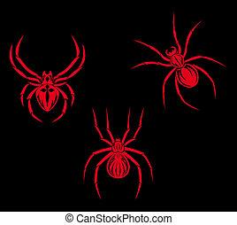 tatuaggio, ragni