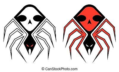 tatuaggio, ragno