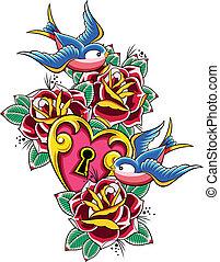 tatuaggio, rondine