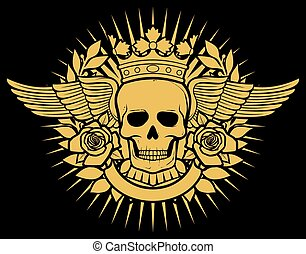 tatuaggio, simbolo, cranio