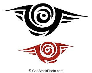 tatuaggio, tribale, vettore, stampino