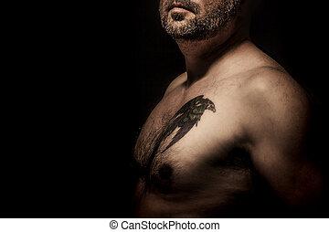 tatuaggio, uomo