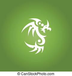 tatuaje, arte tribal, dragón