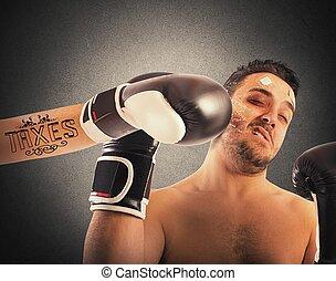 tatuaje, boxeador, impuestos