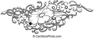 tatuaje, flor