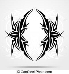 tatuaje, maorí, ataque, fondo, raster., cima, o, back.,...