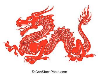 tatuaje, tribal, dragón