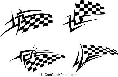 tatuaje, tribal, señalador de carreras