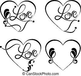 tatuera, kärlek, ord