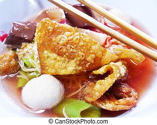 tau, ヌードル, yong, シーフード, fishball, foo, 米