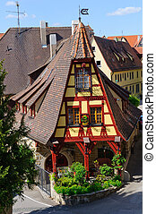 tauber, rothenburg, der, alemania, ob