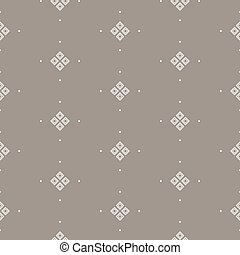 Taupe simple seamless vector pattern. Geometric repeating...
