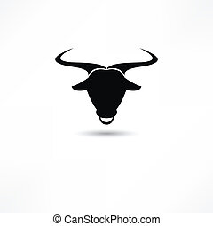 taureau, icône