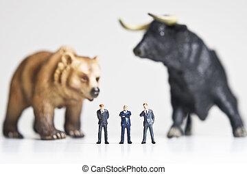 taureau, marché baisse, /