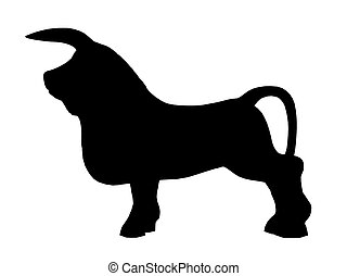 taureau, silhouette, combat, espagnol