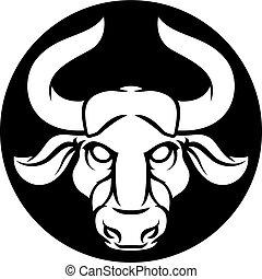 taureau, taureau, zodiaque, signe astrologie
