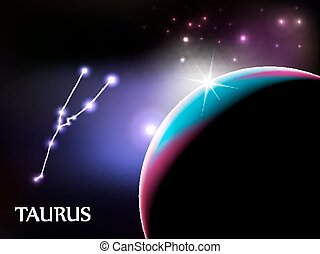 Taurus - Astrological Sign and copy space