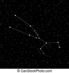 Taurus constellation design - Creative design of Taurus...