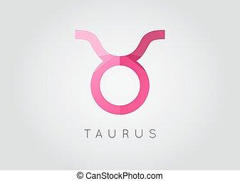 Taurus Constellation. Detailed Stylish Zodiac Icon. Modern Style Drawing. Vector Illustration.
