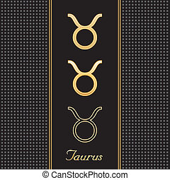Taurus Gold Horoscope Symbols