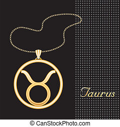 Taurus Gold Necklace