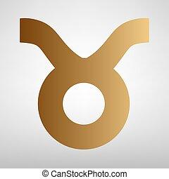 Taurus sign. Flat style icon