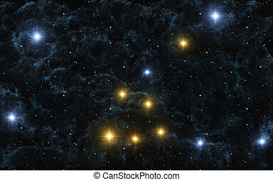 Taurus - This image shows taurus constellation with galactic...