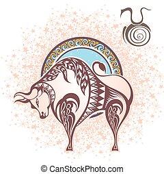 taurus., zodíaco, señal