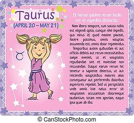 Taurus Zodiac kid