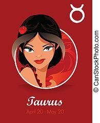 taurus, zodiac, meldingsbord