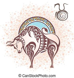 Taurus. Zodiac sign - Zodiac symbol for your design