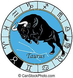 taurus zodiac sign - taurus or ox astrological zodiac sign,...