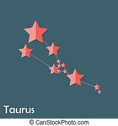 Taurus Zodiac Sign of the Beautiful Bright Stars
