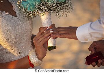 tauschen, ringe, wedding