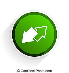 tauschen, wohnung, ikone, mit, schatten, weiß, hintergrund, grün, modern, design, web, element