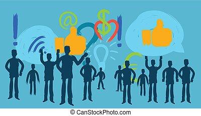 tausendjährig, sozial, medien, blogger, person, sozial,...