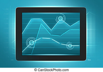 taux, affichages, tablette, échange