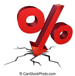 taux chute, intérêt