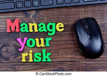 tavola, amministrare, rischio, parole, tuo