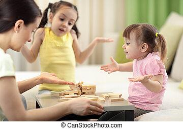 tavola, asse, gioco, famiglia, gioco