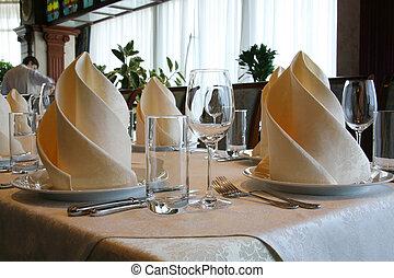 tavola, banchetto, ristorante