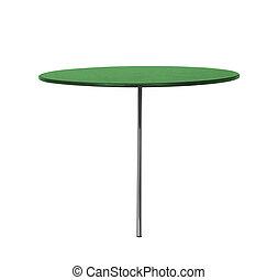tavola, bianco, isolato, fondo, rotondo