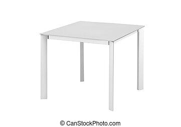 tavola, bianco, isolato