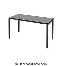 tavola, bianco, nero, isolato