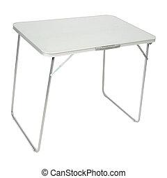 tavola, bianco, piegatura, isolato