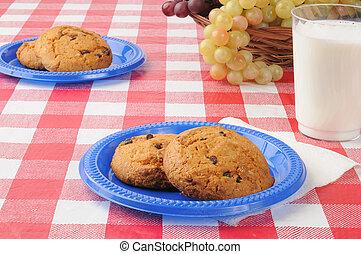 tavola, biscotti, picnic