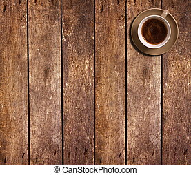 tavola, caffè, vista, tazza