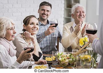tavola, cena, famiglia